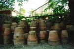 Old terracotta pots