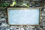 Gardeners blackboard for kitchen garden