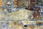 Close up of old sandstone wall