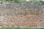 Old brick wall with lime mortar