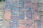 Basket weave brick paving
