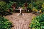 Circular brick terrace
