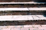 Yorkstone steps with tile risers