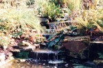 Water feature in sandstone